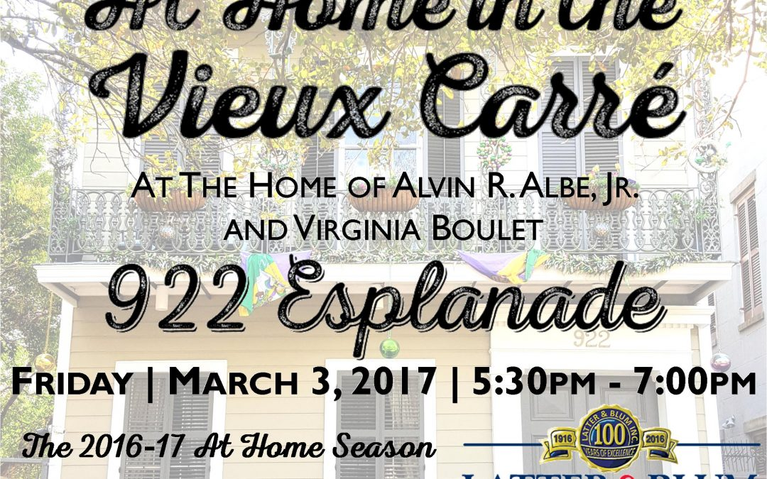 March 2017 At Home in the Vieux Carré