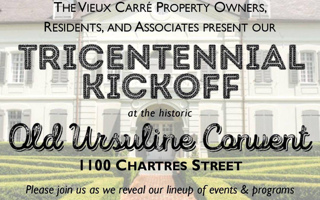 Tricentennial Kickoff TONIGHT!