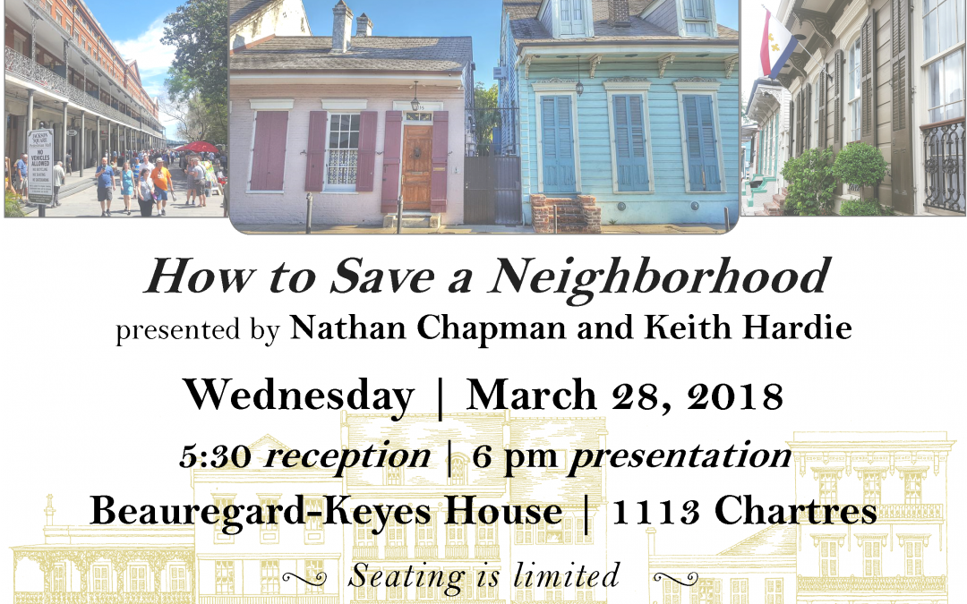 How to Save a Neighborhood